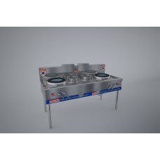 Gas cooker 2 kitchen 2 fan pan (cast iron) KRGS2B2C18QG