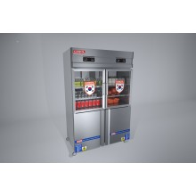 KRF4D2C- Industrial freezers 4 doors 2 machine